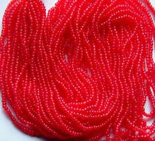 Carnation Red Vintage Transparent Glass Seed Beads BOGO =2nd Hank FREE (4379803)
