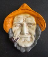 """Old Salt 902 Cast Iron Fisherman Plaque Fair Haven, NY 5 3/8"""" wall hanger in box"""