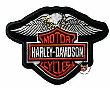 HARLEY DAVIDSON DOWN WING EAGLE BAR AND SHIELD VEST PATCH * DISCONTINUED DESIGN*