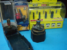 RYOBI & IRWIN & OTHERS ROUTER BIT Lot AS SHOWN ASSORTED BRANDS