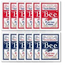 Genuine BEE Playing Cards No 92 Poker Standard Original DIAMOND 12 DECKS USA NEW