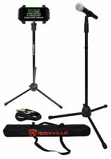 Rockville Karaoke Microphone+Mic Stand+Carry Bag+Cable+Tablet/SmartPhone Stand