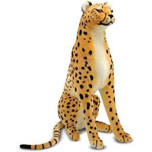 Melissa & Doug Giant Cheetah - Lifelike Stuffed Animal (over 4 feet long)