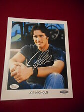 JOE NICHOLS SIGNED 8X10 JSA AUTHENTICATED TOO HOT TO BE COOL YEAH SUNNY & 75