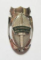 29 COMMANDO ROYAL ARTILLERY DAGGER LAPEL PIN OR WALKING STICK MOUNT