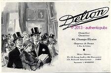 PUBLICITE DELION CHAPEAU CHAPELIER POUR HOMME LEON FAURET DE 1929 FRENCH AD HAT