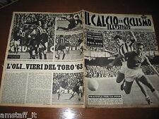 IL CALCIO E CICLISMO ILLUSTRATO 1963/12=RONZON SIVORI=NAPOLI JUVENTUS=TORINO