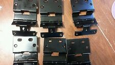 Lot of 6 New Black Cabinet Door Hinges Heavy Construction Commercial Kitchen !!!