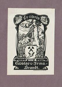 Ex libris Art Nouveau-Jugendstil by NERNST HEINRICH / Germany