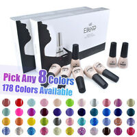 Pick Any 8 Colours Soak Off Nail Gel Polish Top Base Coat Elite99 Manicure Kit