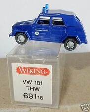 MICRO WIKING HO 1/87 VW VOLKSWAGEN 181 COX KÄFER BEETLE COCCINELLE THW IN BOX