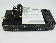 Symphonic SD7S3 DVD/VHS Player With Cables