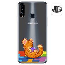 Funda Gel Transparente para Samsung Galaxy A20s diseño Leopardo Dibujos