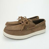 ABEO Angler Mens Brown Leather Comfort Casual Boat Shoes Size 8.5 M