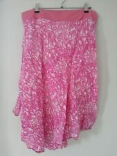 Cotton Blend Below Knee Full Skirts for Women