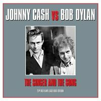 JOHNNY CASH vs BOB DYLAN THE SINGER AND THE SONG - 2 LP GATEFOLD SET RED VINYL
