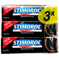 Stimorol Chewing Gum: LICORICE -Pack of 3 -Made in Denmark