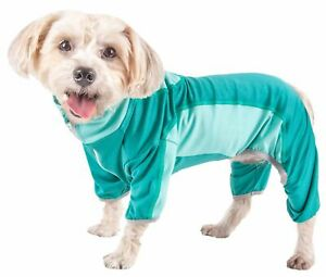Pet Life  Active 'Warm-Pup' Heathered Performance 4-Way Stretch Two-Toned Ful...
