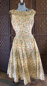 Vintage Minx Modes Summer Dress Floral Print 1950's