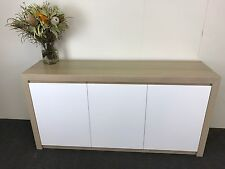 Australian Made Tassie Oak Hardwood Timber Fairmont Buffet 1500w Beige Washed