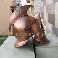 Solid Steel Antique Armour Helmet 300 Spartan Empire Replica Leonidas Helmet