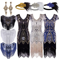 Layered Tassel 1920s Flapper Gatsby Dress Wedding Party Formal Evening Dresses