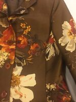 Linda Allard Ellen Tracy Women's Floral Coat, Jacket Sz 8 /skirt Sz Petite 8Suit