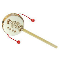Chinese Old Wooden Rattle Drum Hand Shake Toy for Children HY