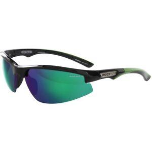 Spiderwire SSGTEGBL-HSGM Terror Eyes Sunglasses, L/XL, Glass Black Smoke Green M