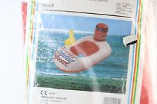 VINTAGE RARE BABY SEAT VINYL BOAT 90s Inflatable Kids Float Swimming 36'' X 24''