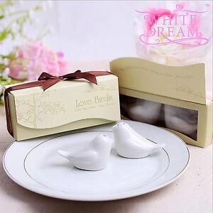 Love Birds Salt & Pepper Shaker - Wedding / Party Favours | Table Decoration