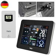 Wetterstation Funk Mit Farbdisplay Thermometer Innen-Außensensor Digitale Wecker