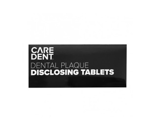 CareDent Chewable Disclosing Tablets Caries Plaque Dental 100 Tablets