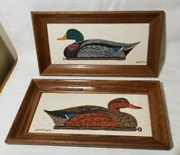 Lot Of 2 Vintage William P. Tyner WM Duck Art Painting Decoy Mallard Signed