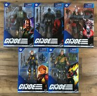 "GI Joe Classified Series Wave 1 6"" Action Figure Set of 5 Snake Eyes Destro Duke"