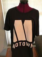 OFFICIAL NEW NWT Motown Records Logo 100% COTTON BLACK T-Shirt TEE SZ MEDIUM M