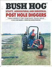 Farm Equipment Brochure - Bush Hog - 2101 2102 2103 - Post Hole Diggers (F5740)