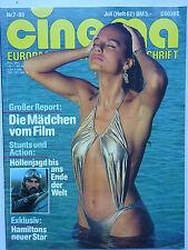 Cinema Nr 62, vom Juli 1983, Inhaltsverzeichnis siehe Foto, Monica Broeke, Elvis