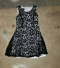 By & by Girl  Black Lace Summer Dress - Size 10