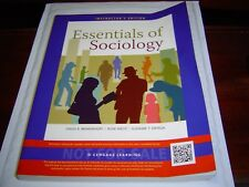 """""""INSTRUCTOR'S EDITION-GOOD COND"""" Essentials of Sociology 9TH EDITION (2013)"""