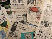 Vintage 1940's - 1960's Magazine Ephemera  And Sticker Lot! 30+  Items