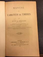 Manuel de l'amateur de timbres 1894 Legrand - libro filatelia -         cv5/08