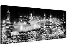 Black and White Islamic Canvas Art Prints - Muslim Hajj Kaaba Pilgrimage - Mecca