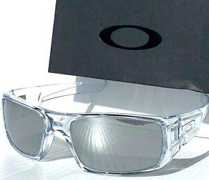 NEW Oakley Crankshaft CLEAR POLARIZED Galaxy Chrome Mirror Iridium Sunglass 9239