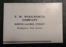 1948 F. W. Woolworth Company Advertisement Bridgeton NJ