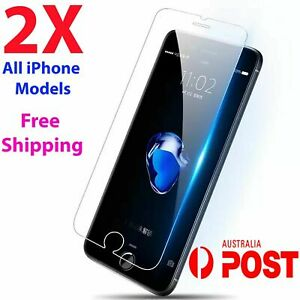 2x Tempered Glass Screen Protector iPhone 12 7 6S 11 PRO Max XR XS SE 7 plus 8 t