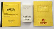 Sunburst Mom and Dad Divorce School Counseling Video Teacher Guide Grade 2-4