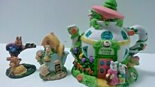 Easter decor ceramic bunny Coffee House Easter Bunny Village City Other Figures