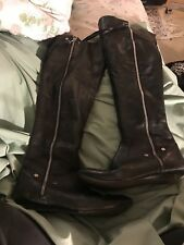 Jessica Simpson Black Leather Over-the-Knee Boots Size 9 :)