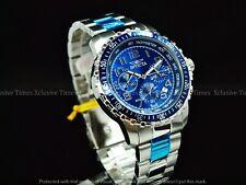 Invicta Men's 45mm Tachymeter PILOT Specialty Chrono Blue Dial Bracelet SS Watch